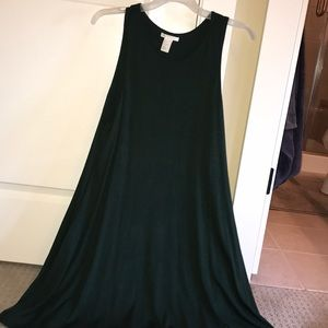 Emerald green A line dress from H&M